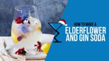 Elderflower and gin soda