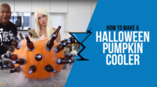 Halloween Pumpkin Cooler