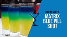Matrix Blue Pill Shot