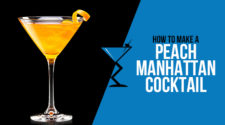 Peach Manhattan Cocktail