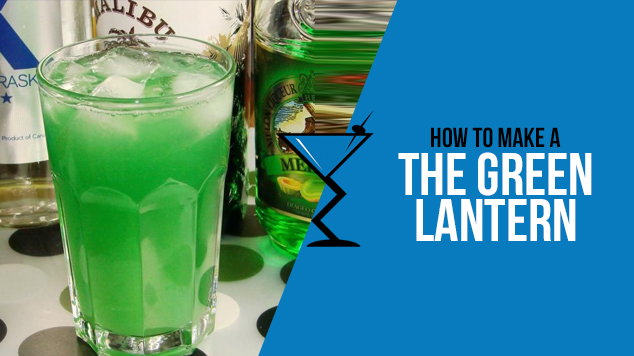 Green lantern drink lab cocktail recipes drinks for Green alcoholic drinks recipes