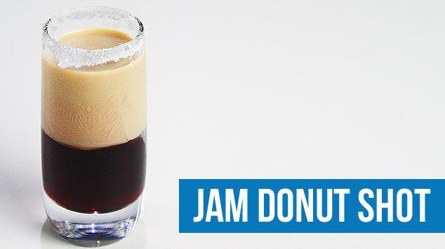 Jam Donut Shot Recipe - Cocktails & Drink Recipes | Drink Lab